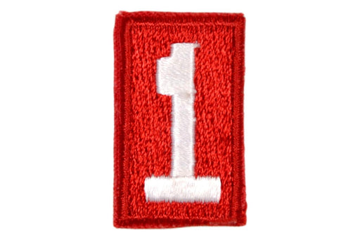 1 Unit Number White on Red Paper Back