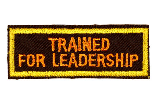 Trained for Leadership Patch