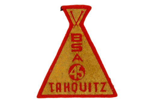 1945 Tahquitz Camp Patch Felt