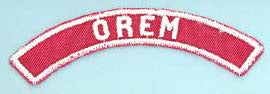 Orem Red and White City Strip