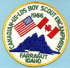 1966 LDS Canadian-US Encampment Jacket Patch