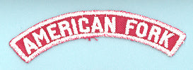 American Fork Red and White City Strip