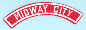 Midway City Red and White City Strip