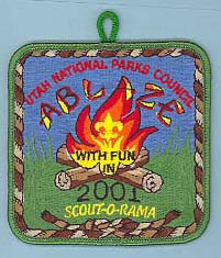 2001 Scout O Rama Patch Green Border