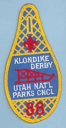1988 Utah National Parks Klondike Derby Patch