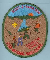 1994 Scout O Rama Patch Green Border