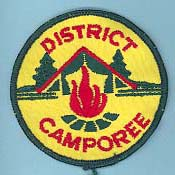 1973 Spring Camporee Patch Logs away from fire