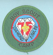 Boy Scout Camp Patch Paper Back