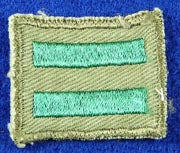 Patrol Leader Patch 1960s Rough Twill Gauze Back