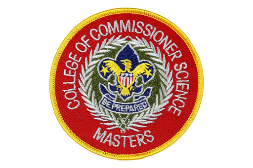 College of Commissioner Science Masters Patch 4""