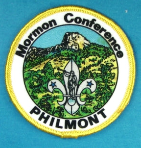 LDS Mormon Conference Philmont Patch Silk Screened Yellow Border