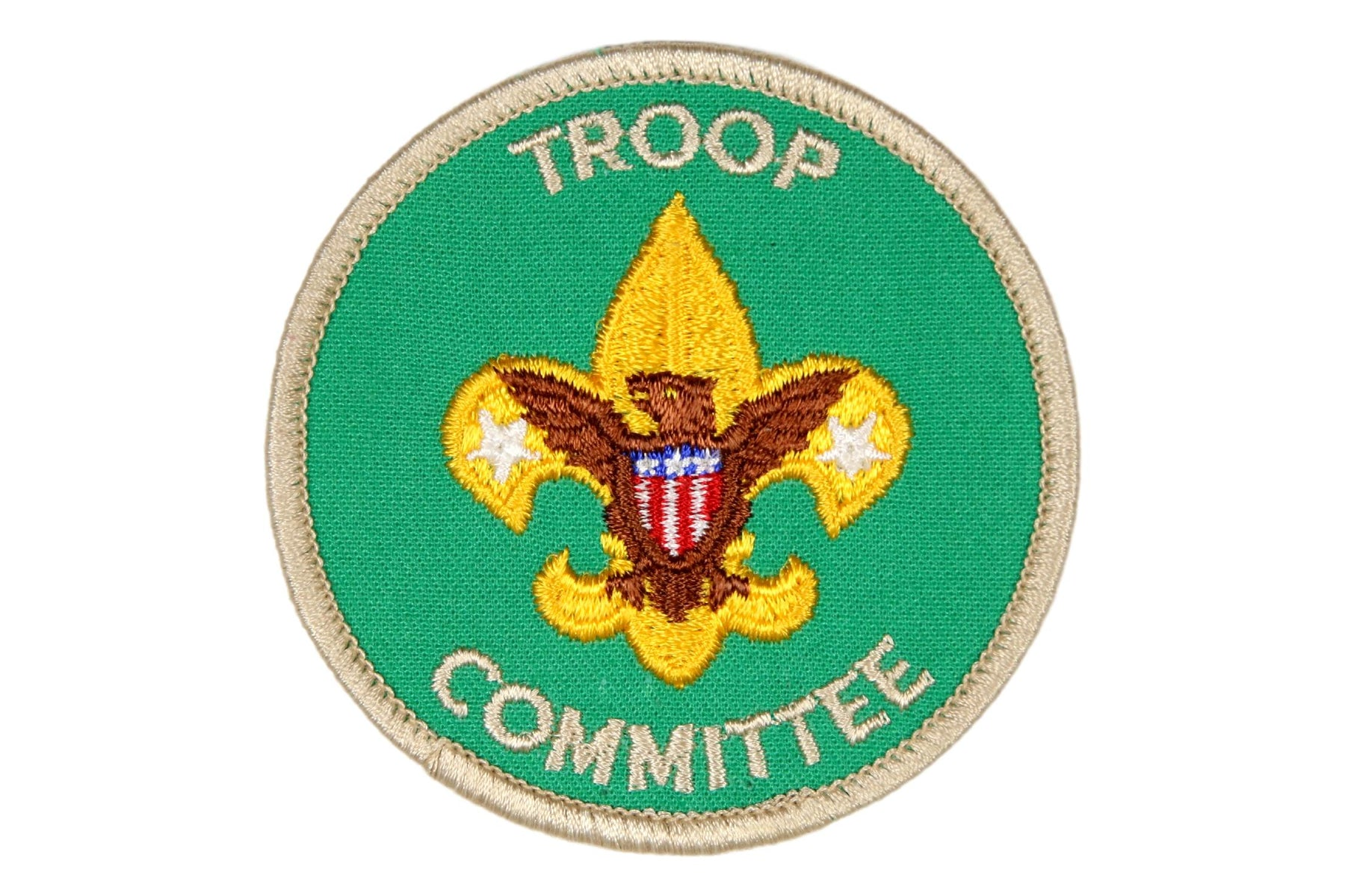 Troop Committee Patch 1970s Clear Plastic Back