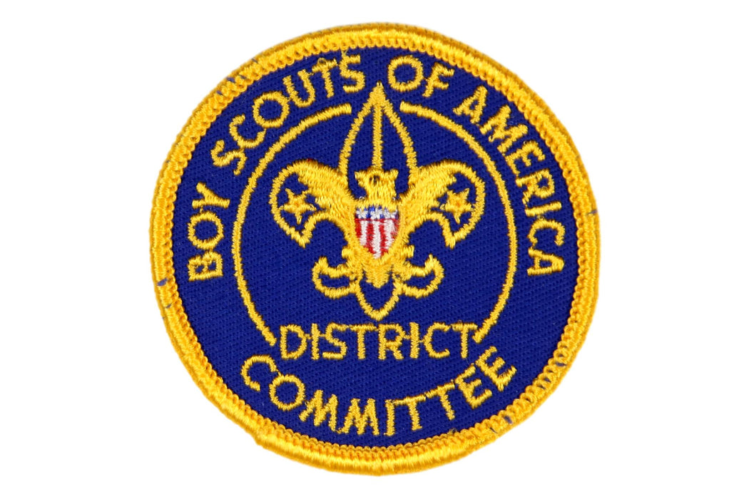 District Committee Patch1960's with Title Gauze Back