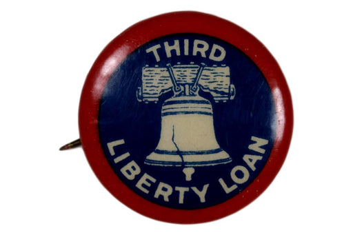 Third Liberty Loan Pin Back