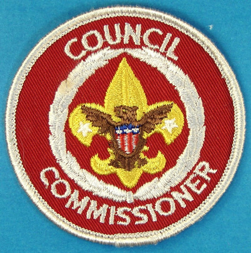 Council Commissioner Patch 1970s - 2010