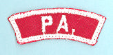 Pennsylvania Red and White State Strip