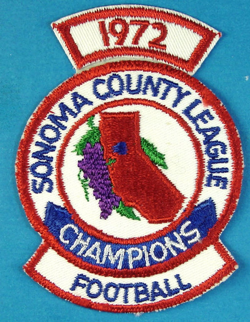 1972 Sonoma County Football Champions Patch
