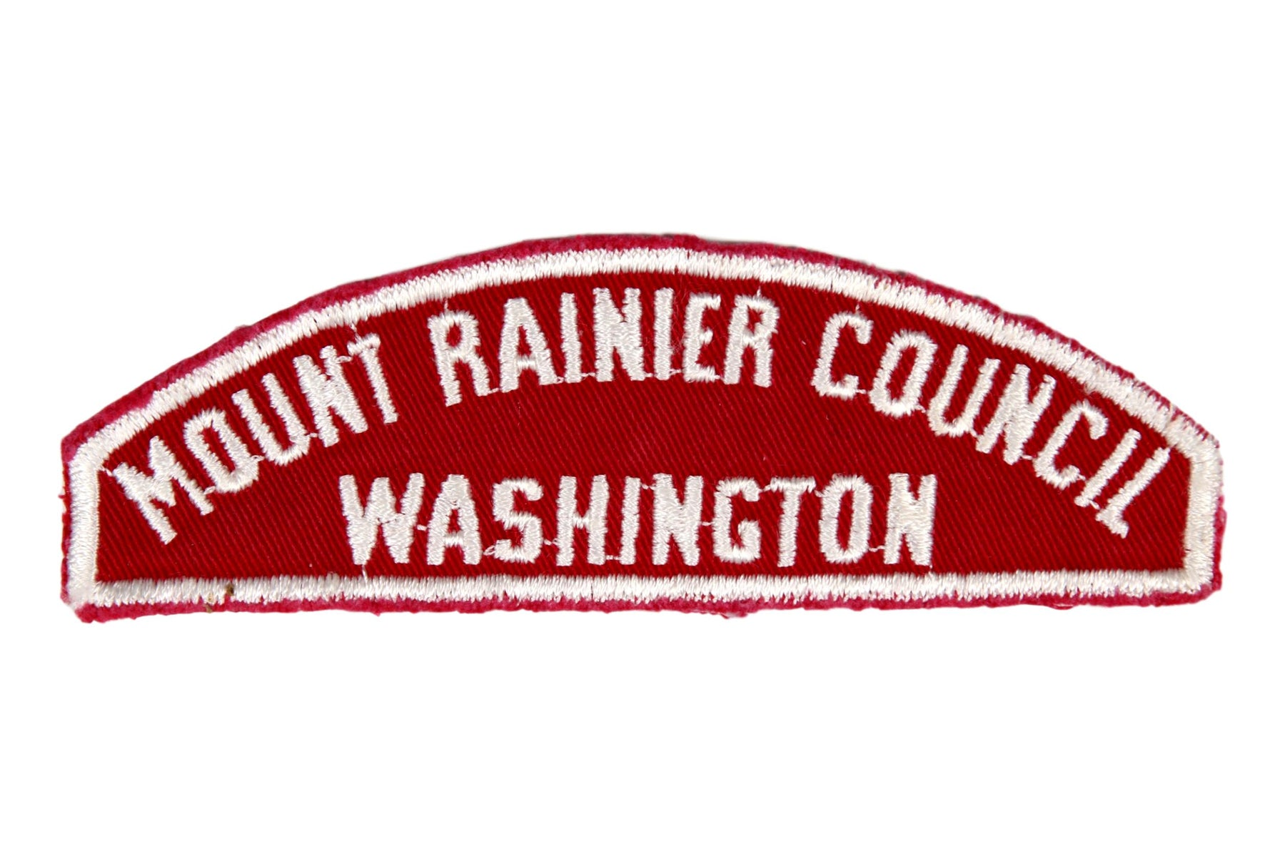 Mount Rainier Council Red and White Council Strip