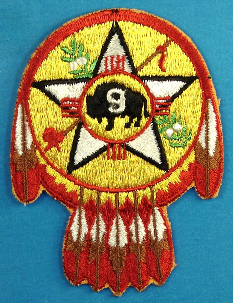 Region Nine Patch Fully Embroidered Plain Back
