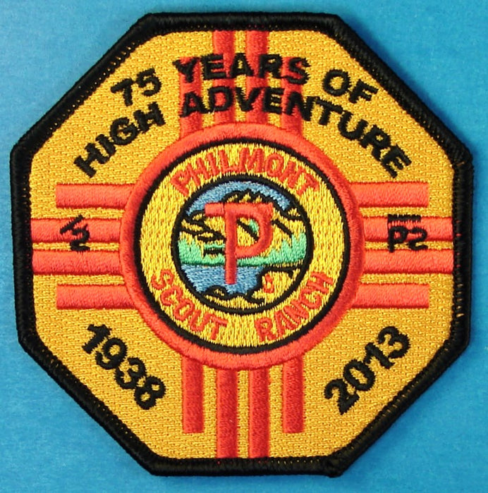2013 Philmont Scout Ranch 75 Years of High Adventure Patch