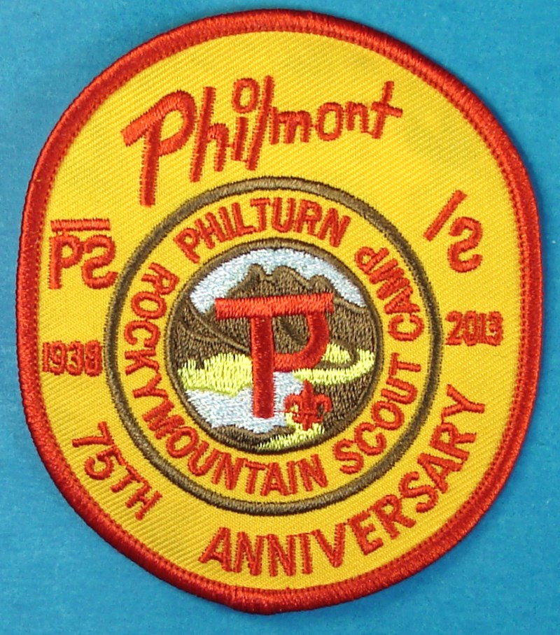 2013 Philmont 75th Anniversary of Philturn Scout Camp Patch