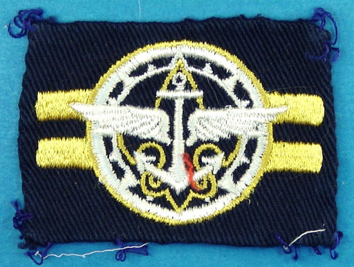 Explorer Crew Leader Patch on Blue Square