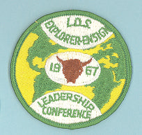1967 LDS Explorer Leadership Conference Patch
