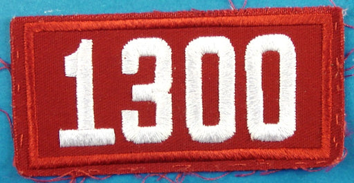 1300 Unit Number White on Red