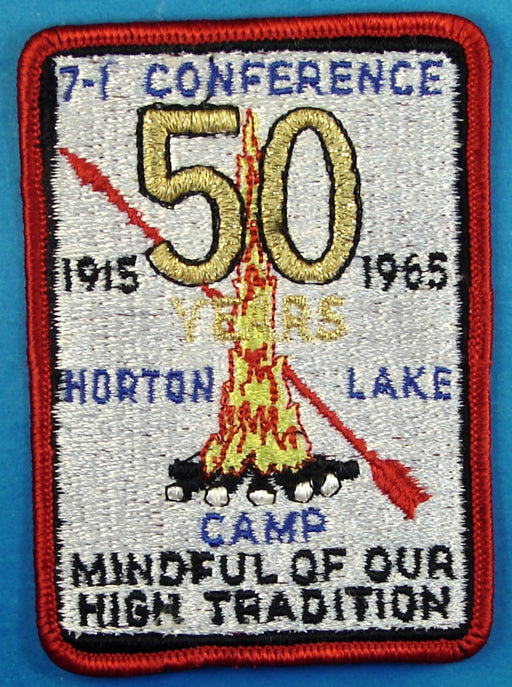 1965 Section 7I Conference Patch