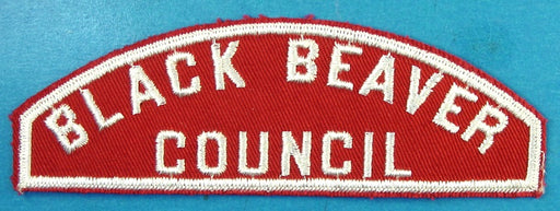 Black Beaver Red and White Council Strip