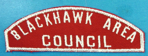 Blackhawk Area Red and White Council Strip