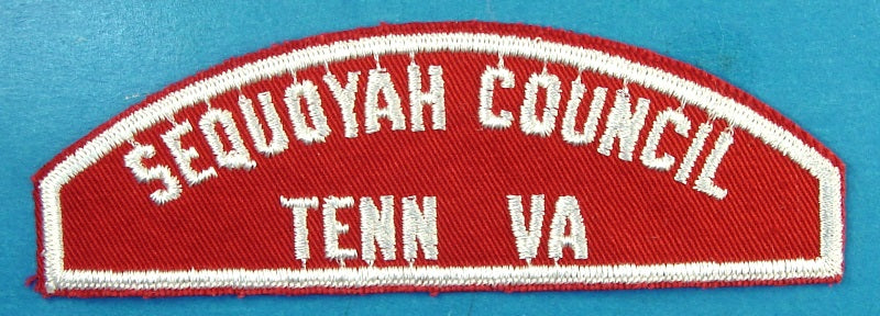 Sequoyah Council Red and White Council Strip