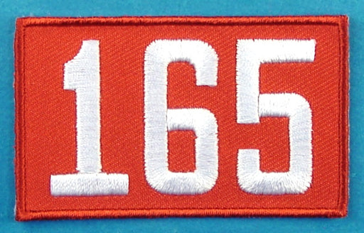 165 Unit Number Red