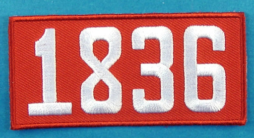 1836 Unit Number Red
