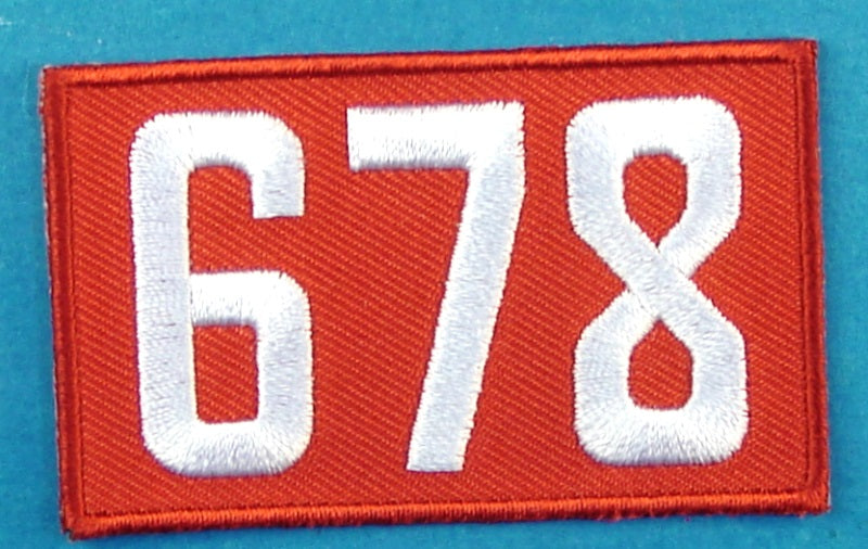 678 Unit Number Red