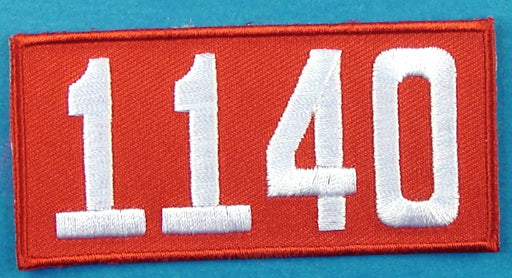 1140 Unit Number Red