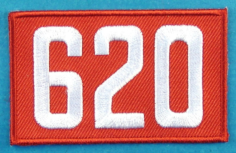 620 Unit Number Red