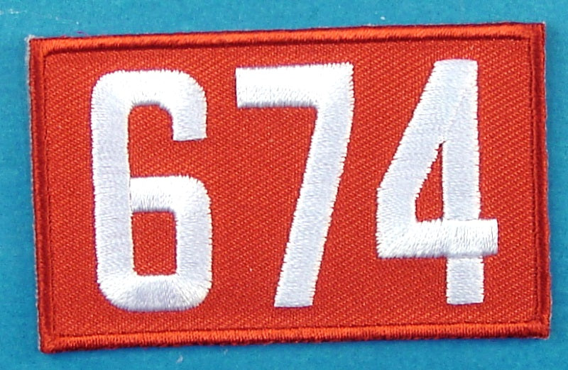 674 Unit Number Red