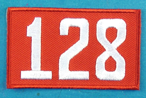 128 Unit Number Red