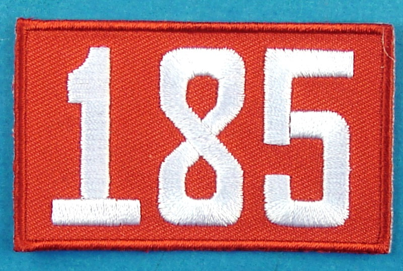 185 Unit Number Red
