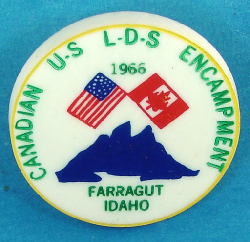 1966 LDS Canadian-US Encampment Neckerchief Slide