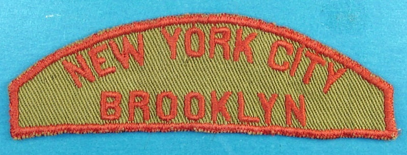 New York City Brooklyn Tan and Red Council Strip