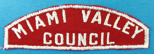 Miami Valley Council Red and White Council Strip