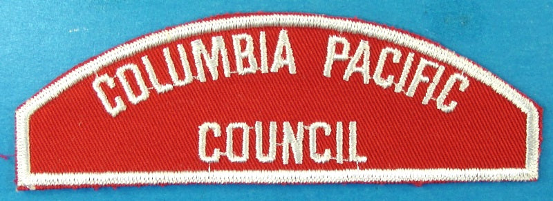 Columbia Pacific Council Red and White Council Strip
