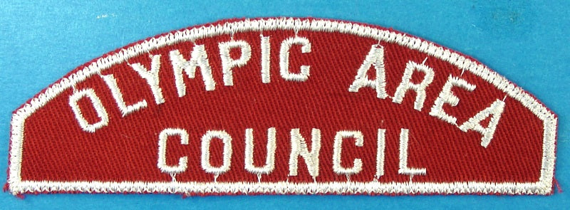 Olympic Area Council Red and White Council Strip