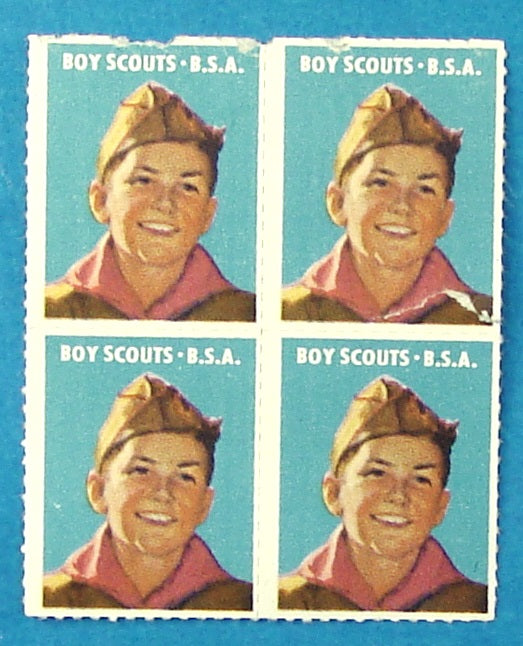 Boy Scout Stamp Block of 4