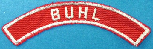 Buhl Red and White City Strip