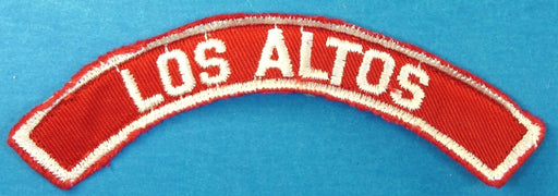 Los Altos Red and White City Strip