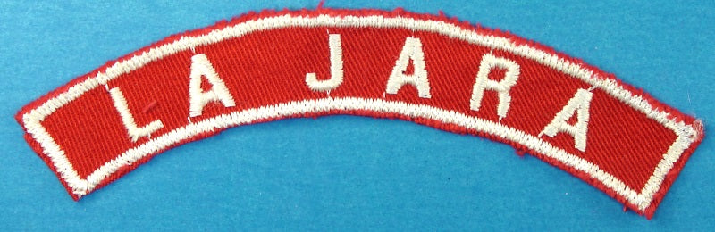 La Jara Red and White City Strip