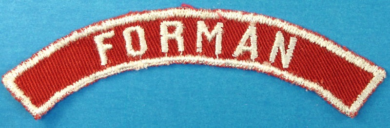 Forman Red and White City Strip